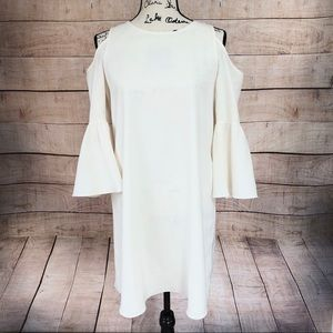 VaVa by John Han Open Shoulder Off White Dress